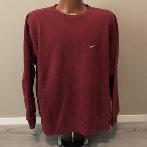 Nike Crewneck Vintage 90s Red XL